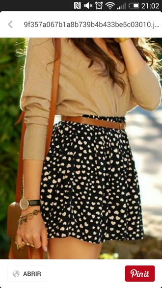 skirt blackskirt heart skater skirt black skirt romantic