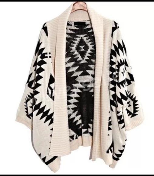 oversize cardigan pattern aztec tribal cardigan