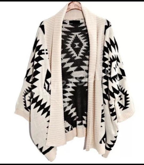 cardigan aztec pattern oversized tribal cardigan