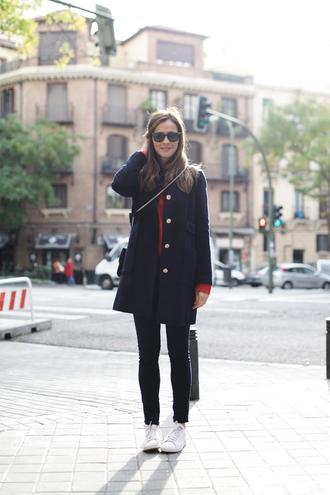 lady addict blogger coat navy