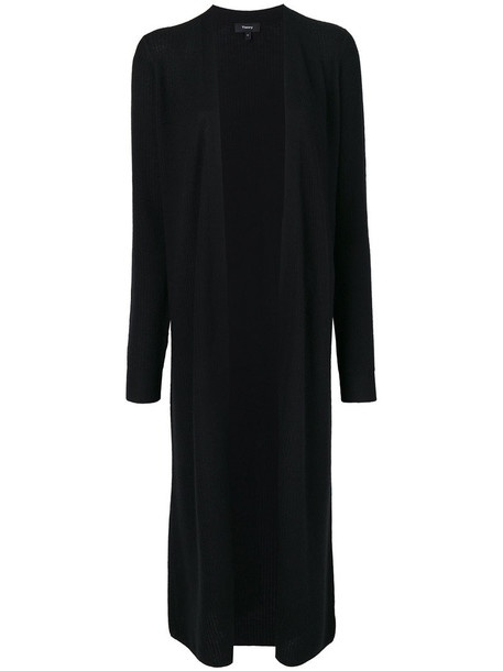 theory cardigan cardigan open women black sweater