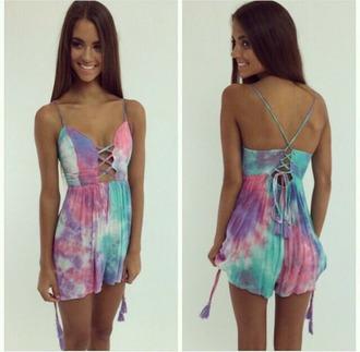 dress tie dye tie dye dress summer dress