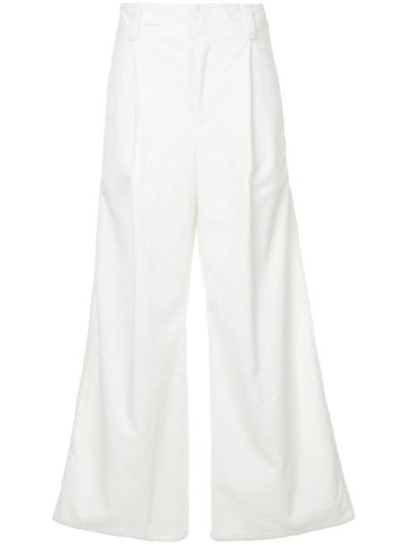 Estnation women white cotton pants