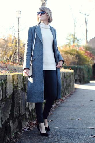 district of chic blogger grey coat classy long coat