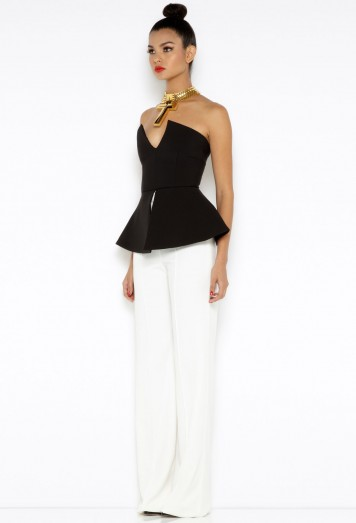 Laurent Cream High Waisted Trousers AQ/AQ
