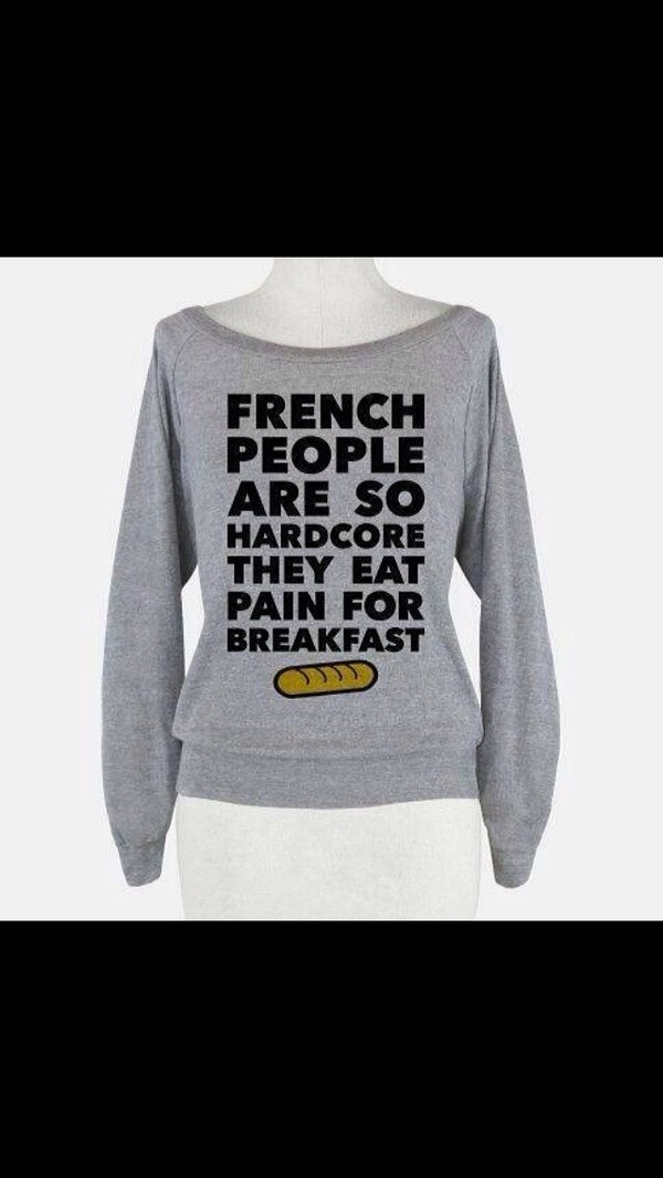 shirt grey french long sleeves