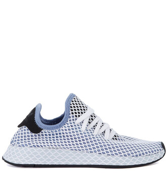 mesh white blue shoes