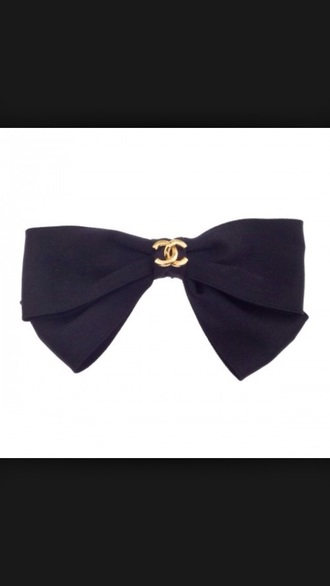 hair accessory black bow