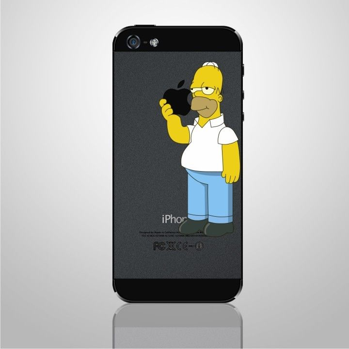 Iphone decal sticker Homer The Simpsons art for Apple Mobile Iphone 5 | eBay
