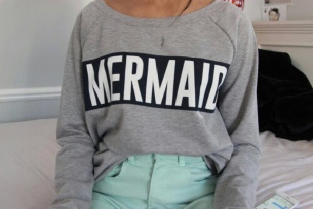 sweater mermaid grey