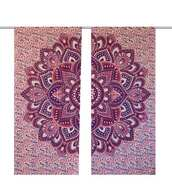home accessory,shower curtain,pink,wholesale mandala curtains
