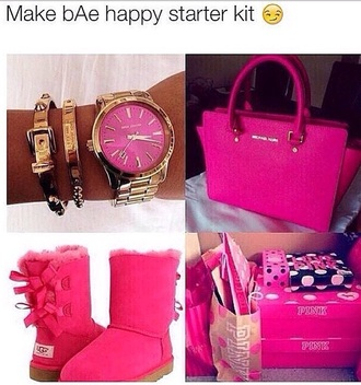 jewels michael kors watch ugg boots pink by victorias secret