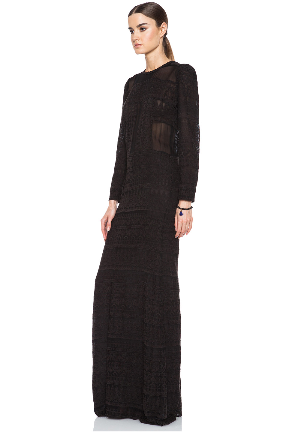 Isabel Marant|Talma Embroidered Viscose Dress in Black