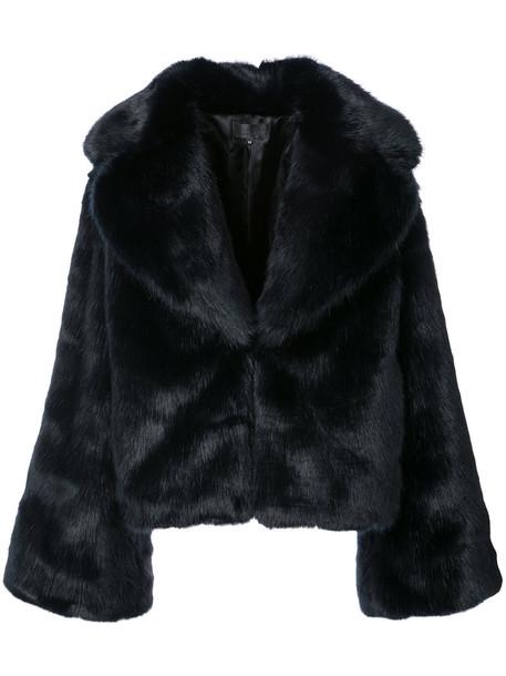 jacket fur women blue