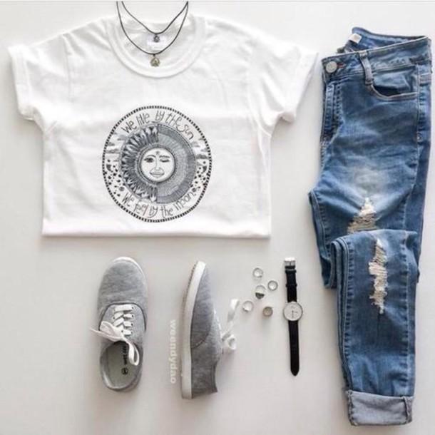 Shirt Sun Moon Hipster B Amp W Wheretoget