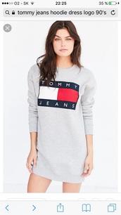 dress,hoodie,tommy jeans,tommy hilfiger,tommy hilfiger sweatshirt