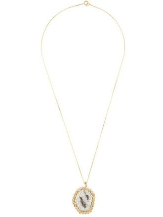 women necklace pendant yellow orange jewels