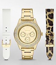 PAVE EMBELLISHED MULTI-FUNCTION WATCH GIFT SET | Express