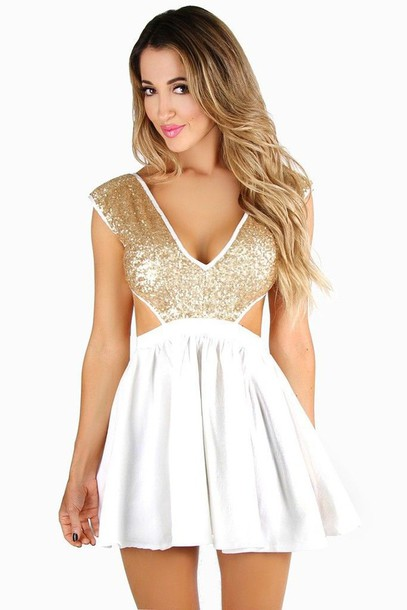 White dress sequin top.