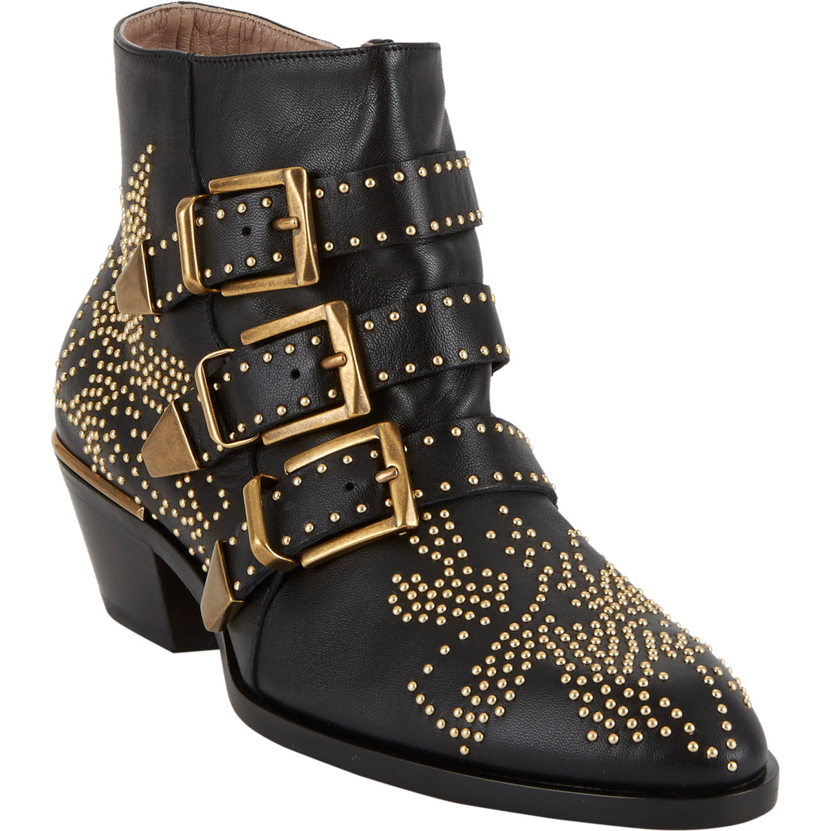 Chloé Suzanna Studded Ankle Boots at Barneys.com
