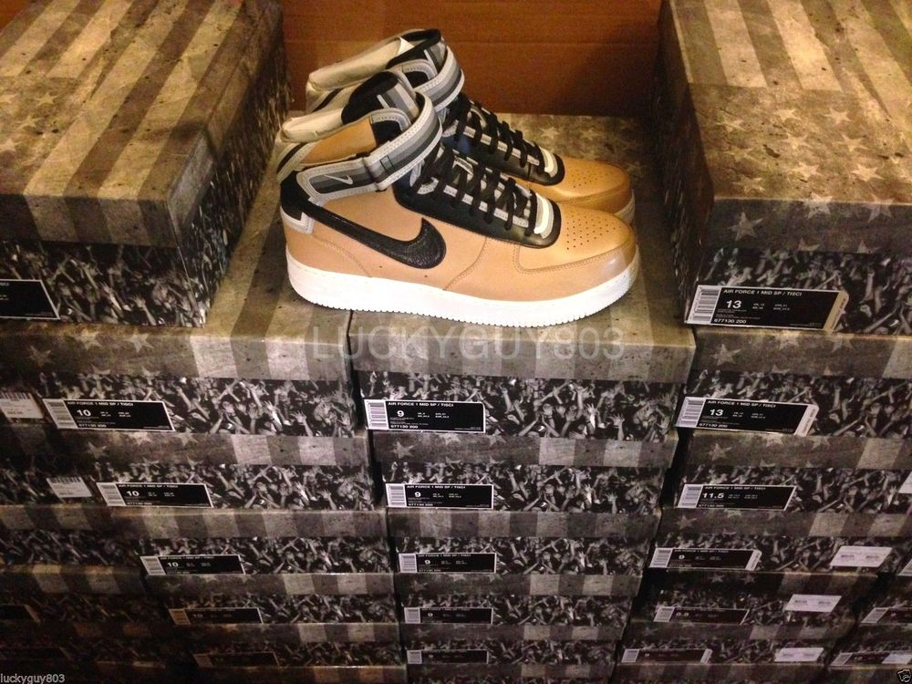 meet 51aa0 e91ac NIKE AIR FORCE 1 MID SP RICCARDO TISCI VACHETTA TAN SZ 4-14 DS RT 677130-200
