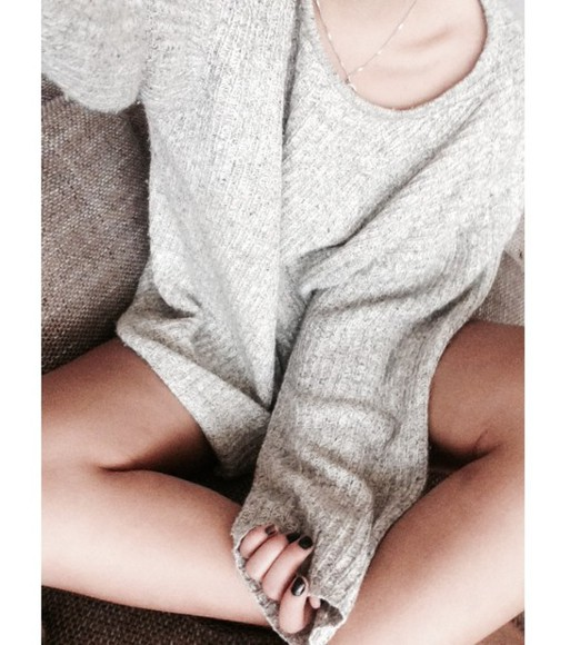 knit grey sweater