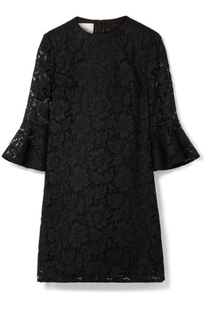 Valentino dress mini dress mini lace cotton black