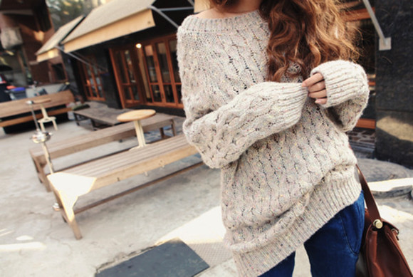 sweater white sweater white jeans purse tumblr