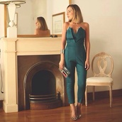 jumpsuit,green,forest green