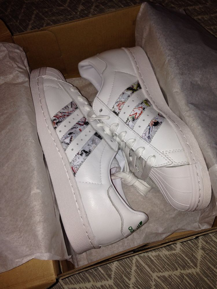 Adidas x topshop superstar 80's shoes sz 8 blogger fav sold out