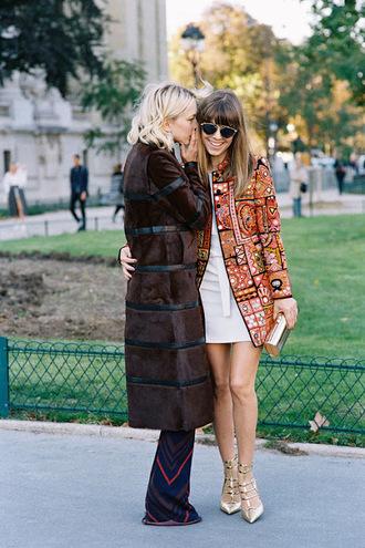 vanessa jackman blogger coat shoes dress