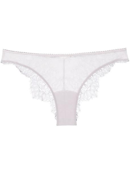 Parah back women spandex lace cotton silk purple pink underwear