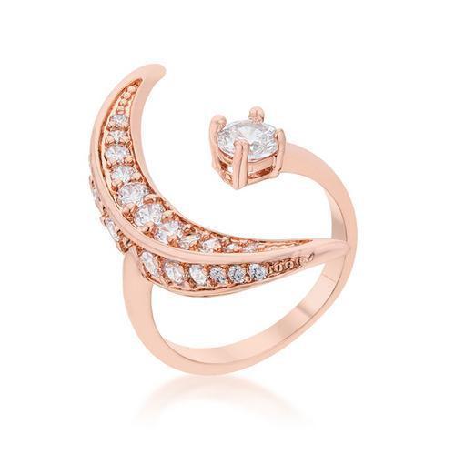 Luna .75ct CZ Rose Gold Delicate Ring