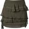 Iro - shelan skirt - women - cotton/viscose - 42, green, cotton/viscose