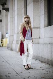 just another me,pants,jacket,blouse,scarf,shoes,jewels