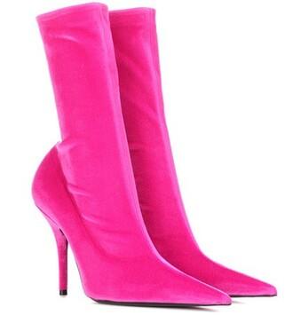 boots ankle boots velvet ankle boots velvet pink shoes