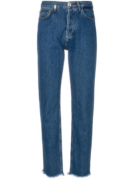 Philipp Plein - Amnesia jeans - women - Cotton/Polyester - 29, Blue, Cotton/Polyester
