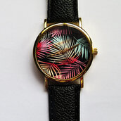 jewels,watch,handmade,style,fashion,vintage,etsy,freeforme,summer,spring,gift ideas,new,love,hot,trendy,ombre,tropical,palm,leaves,tree,colorful