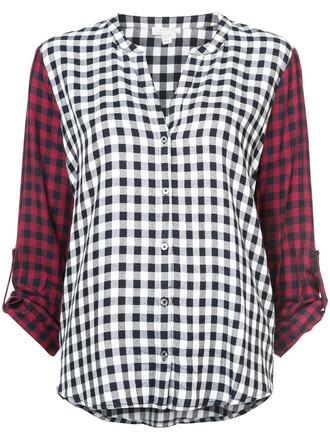 shirt checked shirt women top