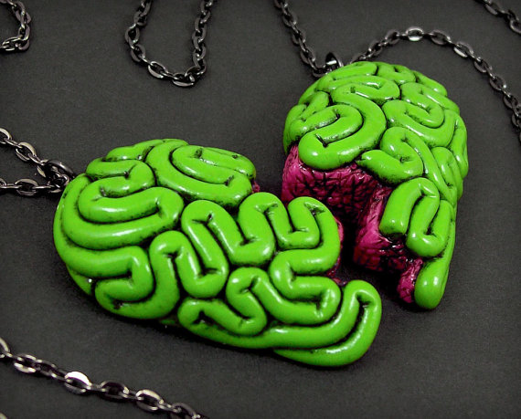 I Heart Brains Best Friends Necklace Set original by beatblack