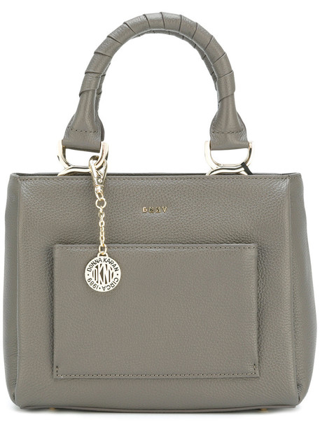 DKNY mini women bag tote bag leather grey