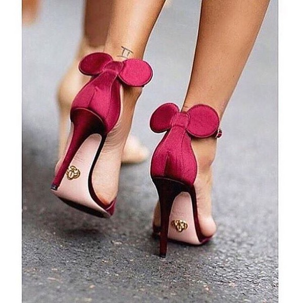 Shoes High Heels Heels Disney Mickey Mouse Minnie