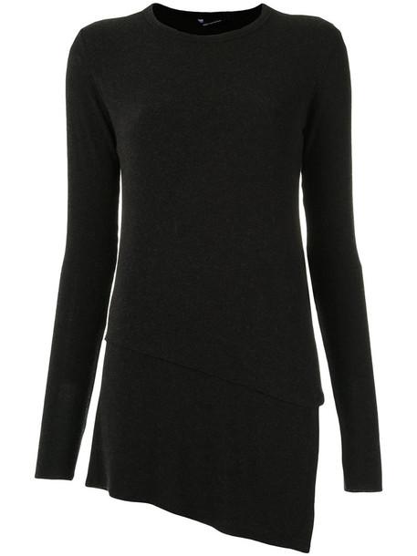 Uma Raquel Davidowicz blouse women spandex black wool top