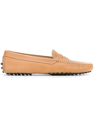 women classic loafers leather nude shoes