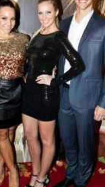 dress black dress long sleeves