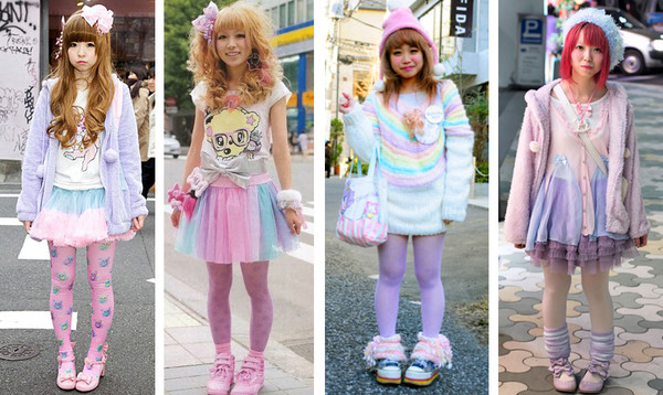 skirt fairy kei pastel kawaii cute clothes japanese fashion korean fashion tights lolita retro 90s style sweater socks harajuku clothes