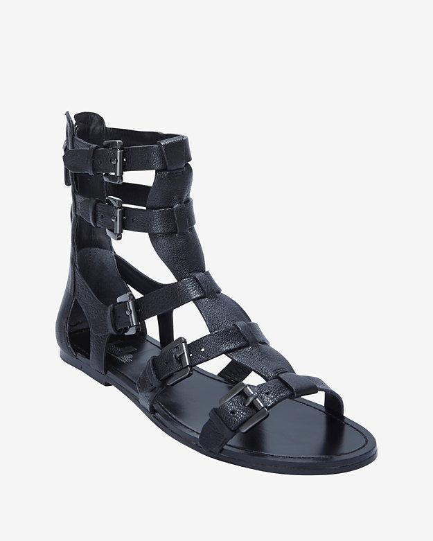 Belle by Sigerson Morrison Bianca Gladiator Sandal: Black | Shop IntermixOnline.com