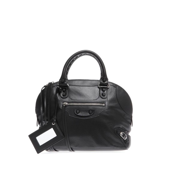 BALENCIAGA Classic leather bowling bag - Polyvore