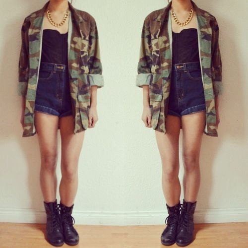 We love camo jackets thiiiiiiiiiis much availablle by costume204