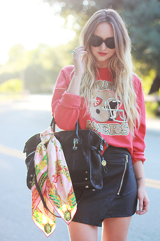 late afternoon sweater shoes scarf bag